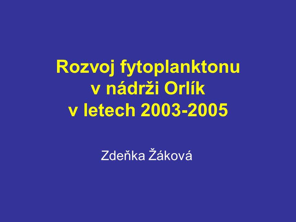 Rozvoj fytoplanktonu v nádrži Orlík v letech 2003-2005 Zdeňka Žáková
