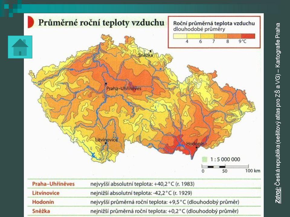 Zdroj: Česká republika (sešitový atlas pro ZŠ a VG) – Kartografie Praha