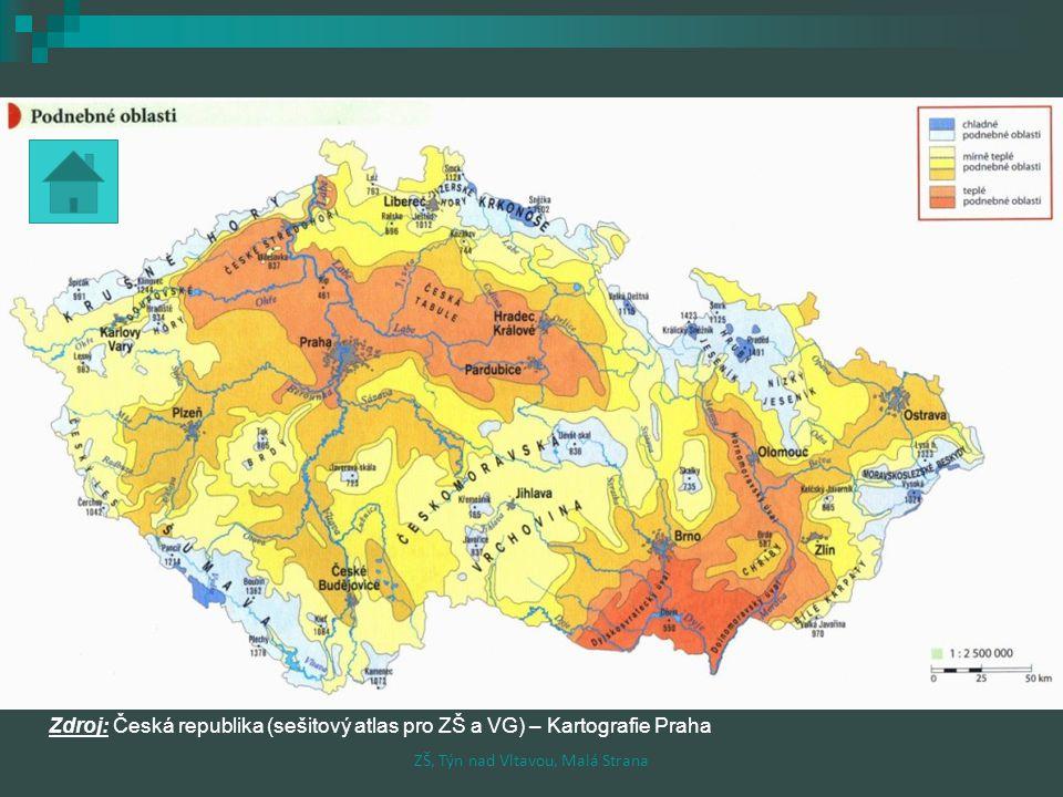 Opakování Propoj čarami co patří k sobě: - 42,2 0 C Uhřiněvesprůměrné nejvyšší srážky +40,2 0 C Žateckonejnižší průměrná roční teplota +0,2 0 C Sněžkanejvyšší naměřená teplota 410 mm Jizerské horyprůměrné nejnižší srážky 1705 mm Litvínovicenejnižší naměřená teplota ZŠ, Týn nad Vltavou, Malá Strana