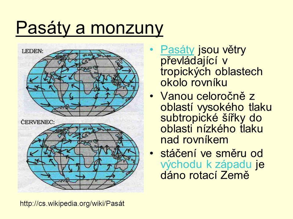 Monzun je vítr, který mění směr se změnou ročního období.