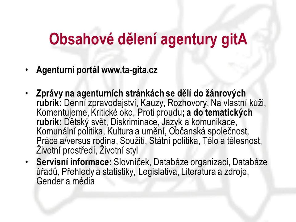 Kontakt proFem, o.p.s., projekt gitA Plzeňská 66 150 00 Praha 5 tel./fax: +420 257 210 959 email: agentura@ta-gita.cz http: www.ta-gita.cz