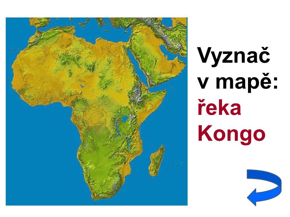 Vyznač v mapě: řeka Kongo