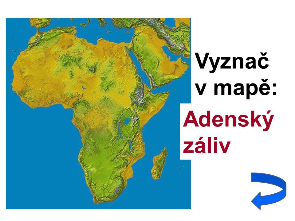 Vyznač v mapě: Adenský záliv