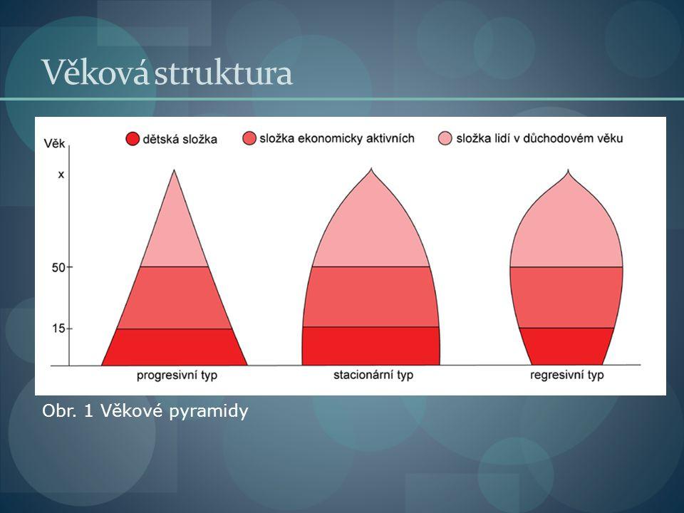 Věková struktura Obr. 1 Věkové pyramidy