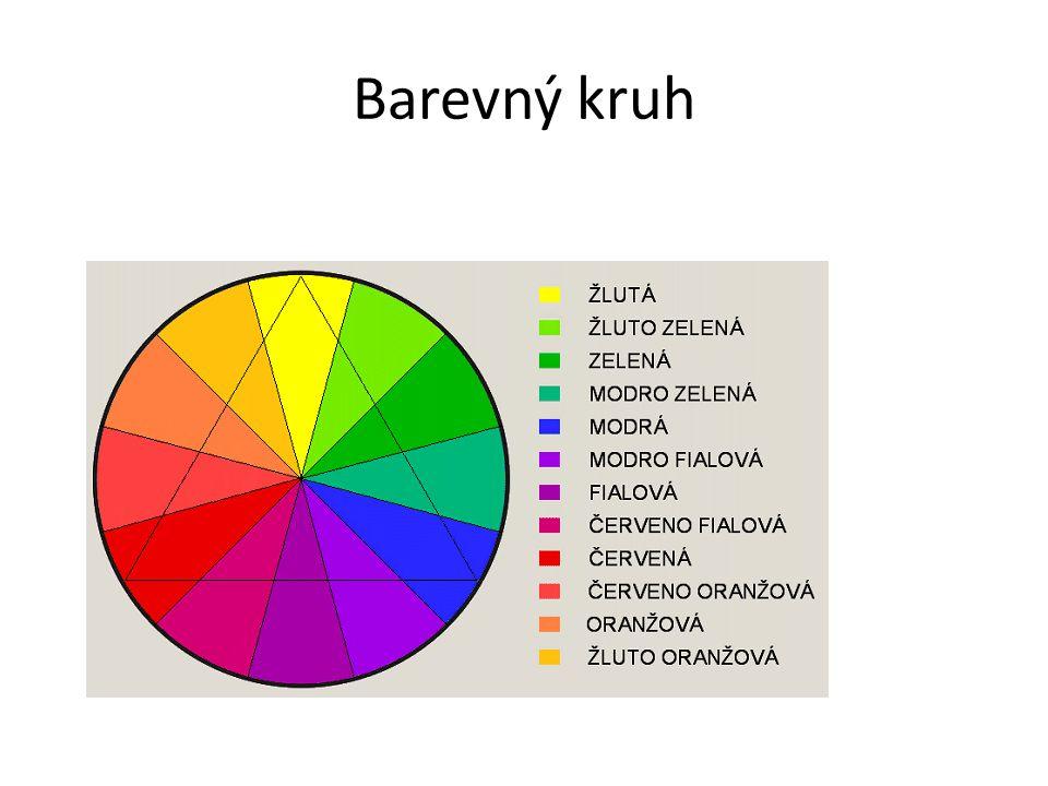 Feng - šuej Studené barvy (Jang) – modrá, zelená, bílá Teplé barvy (Jin) – červená, oranžová, žlutá, hnědá