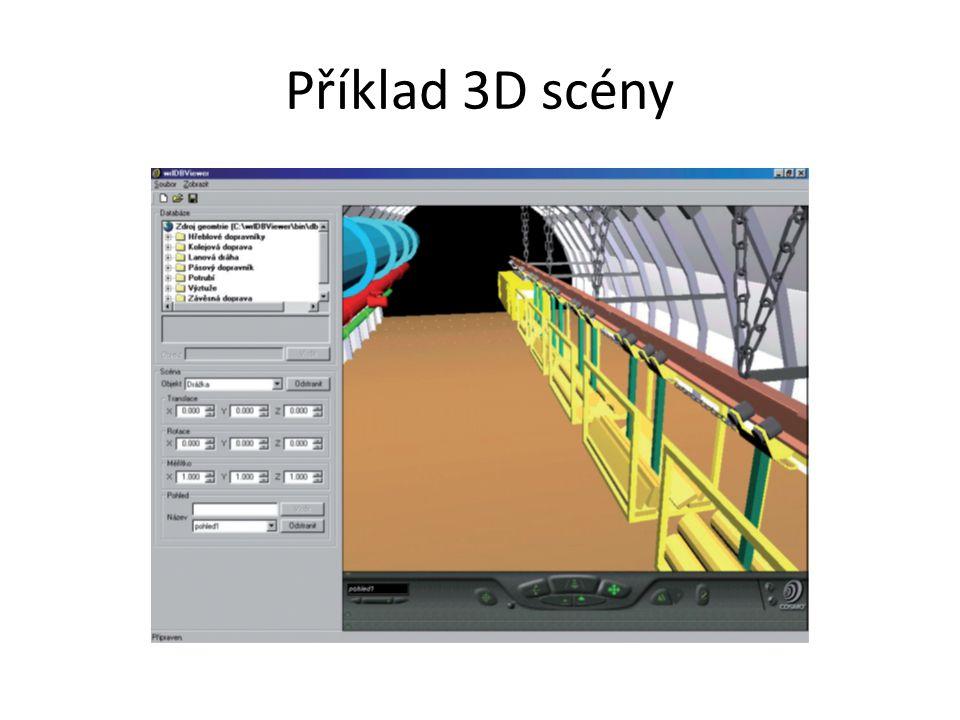 Příklad 3D scény
