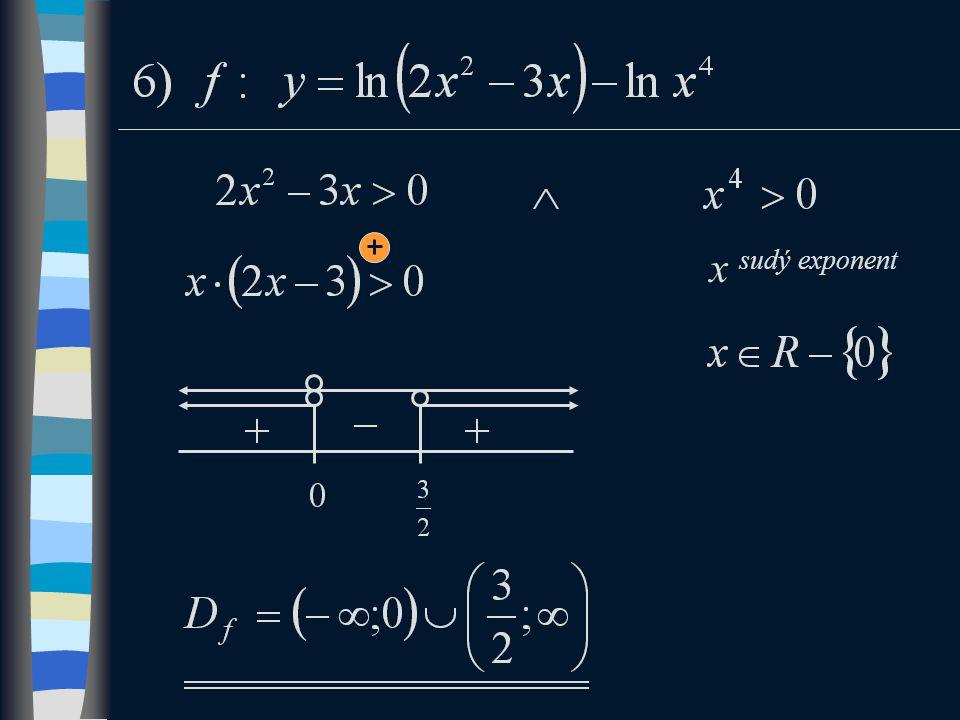 x sudý exponent