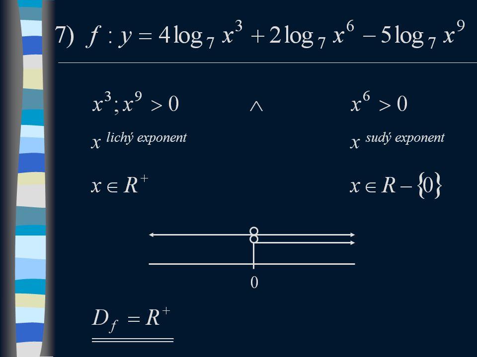 x lichý exponent