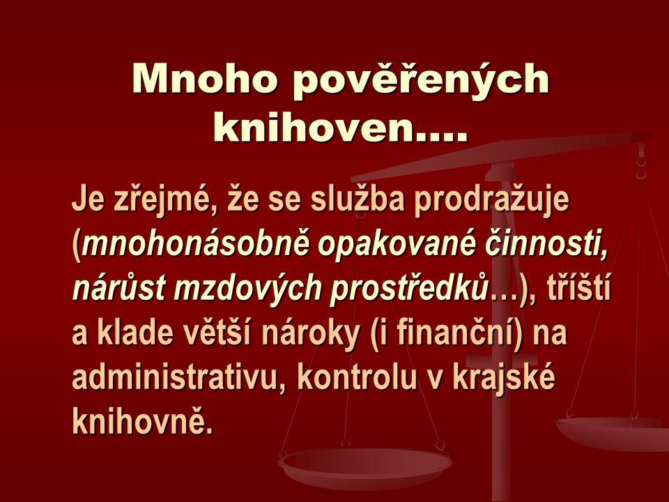Mnoho pověřených knihoven….
