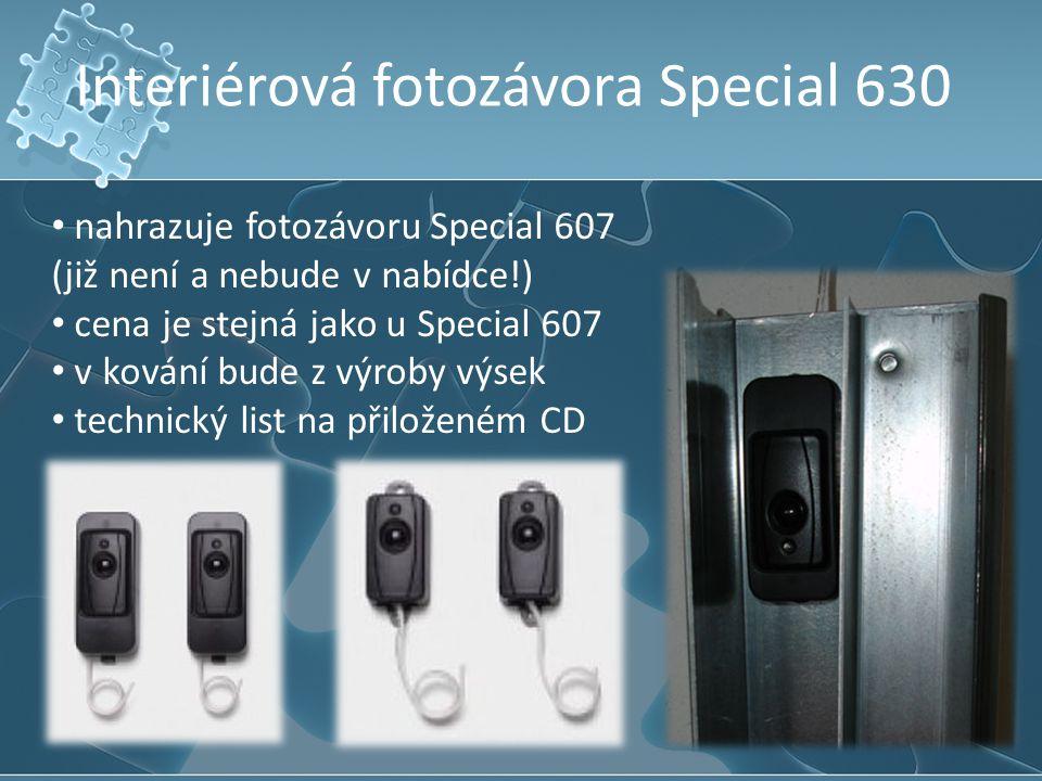 Interiérová fotozávora Special 630 nahrazuje fotozávoru Special 607 (již není a nebude v nabídce!) cena je stejná jako u Special 607 v kování bude z v