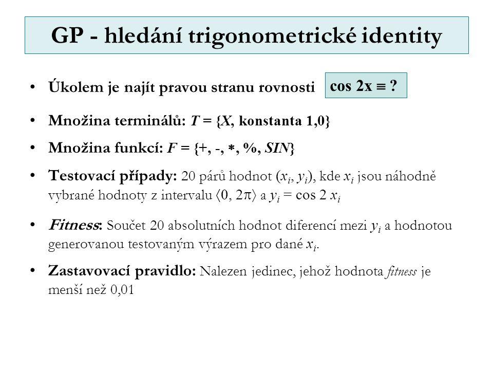 GP - hledání trigonometrické identity cos 2x  .