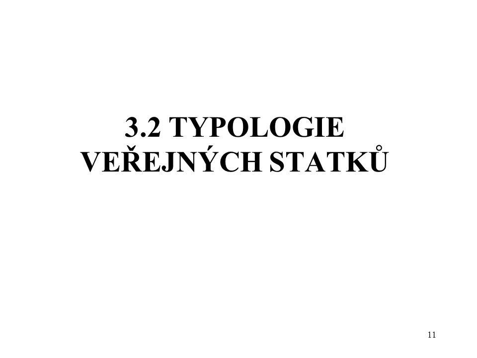 3.2 TYPOLOGIE VEŘEJNÝCH STATKŮ 11