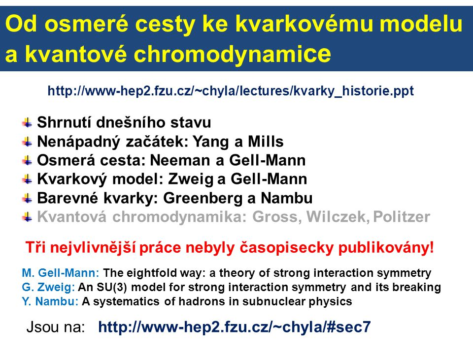 Kvarkový model podle Gell-Manna