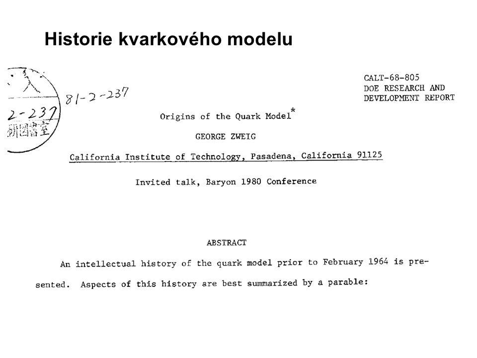 Historie kvarkového modelu