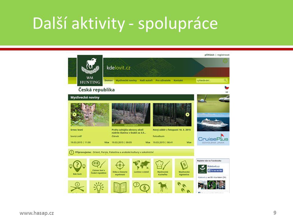 Další aktivity - spolupráce 9 www.hasap.cz