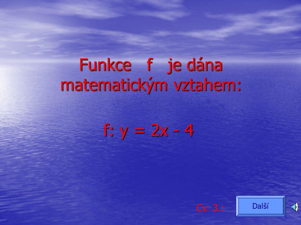Funkce f je dána grafem: Cv. 2.: Další