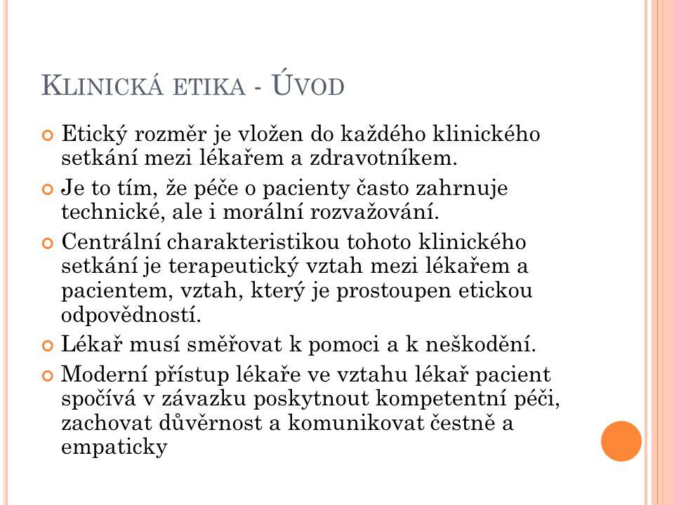 P ŘÍSTUP ČTYŘ ROVIN 4.Ostatní kontextuální charakteristiky Principy spravedlnosti a rovnosti 1.