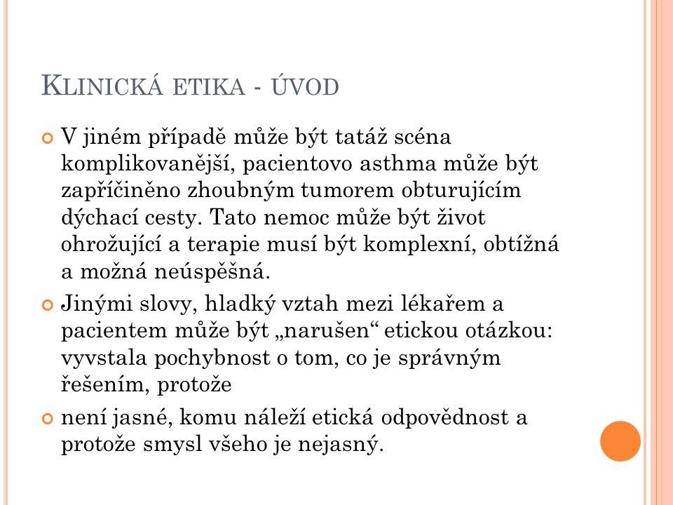 R OVINA I. L ÉKAŘSKÉ INDIKACE