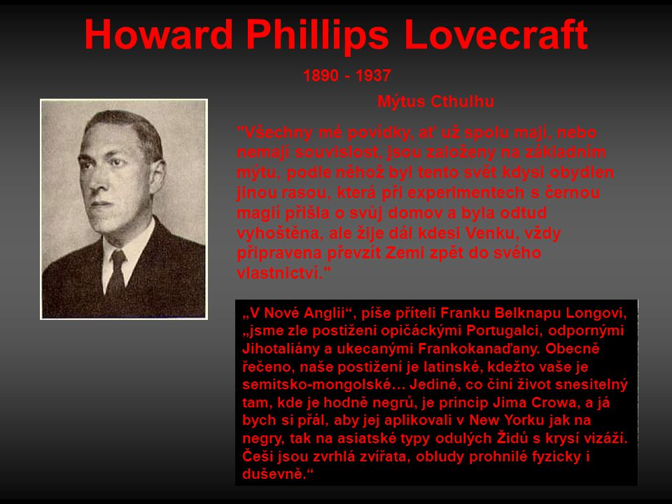 Howard Phillips Lovecraft Mýtus Cthulhu