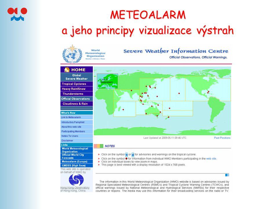 METEOALARM a jeho principy vizualizace výstrah