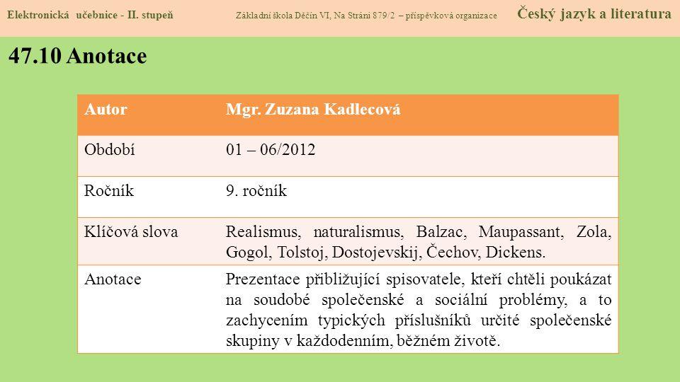 47.9 Použité zdroje, citace Elektronická učebnice - II.