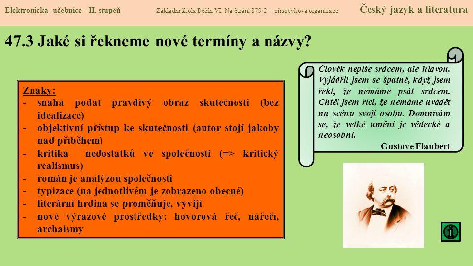 47.3 Jaké si řekneme nové termíny a názvy.Elektronická učebnice - II.