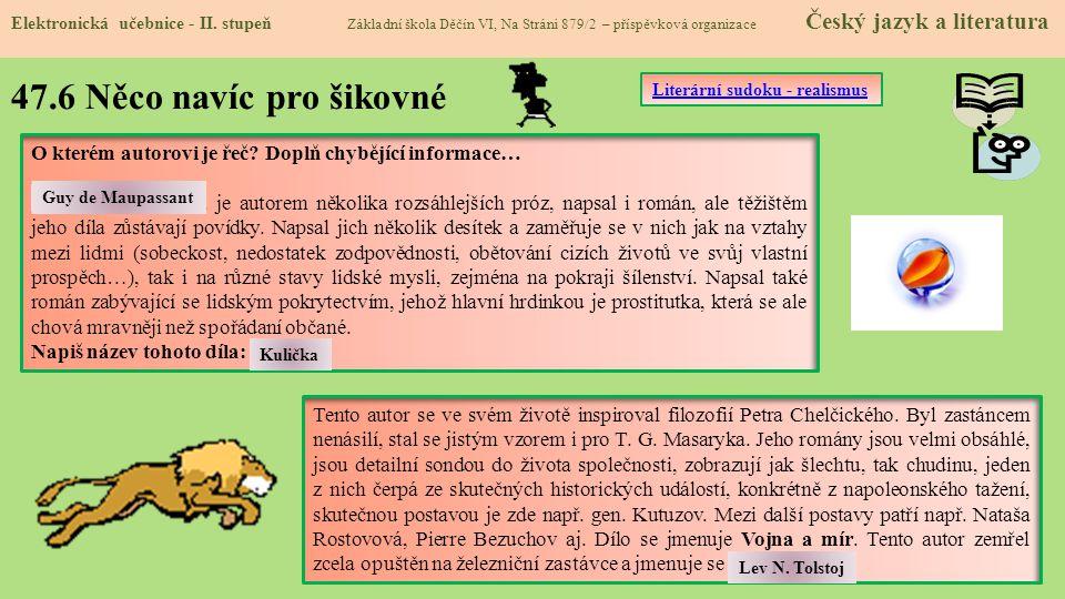47.6 Něco navíc pro šikovné Elektronická učebnice - II.