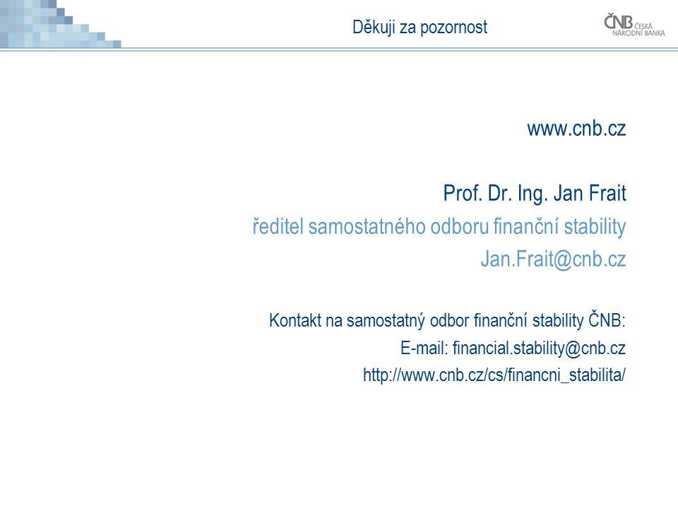 Děkuji za pozornost www.cnb.cz Prof. Dr. Ing.