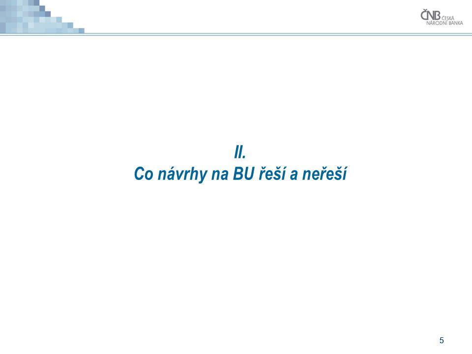 5 5 II. Co návrhy na BU řeší a neřeší