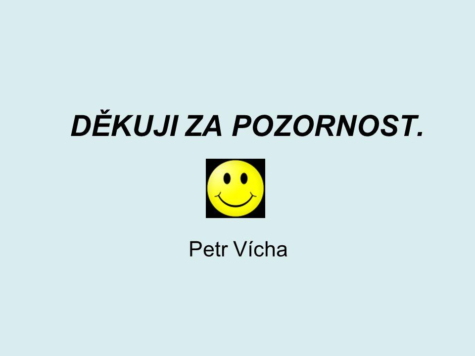 DĚKUJI ZA POZORNOST. Petr Vícha