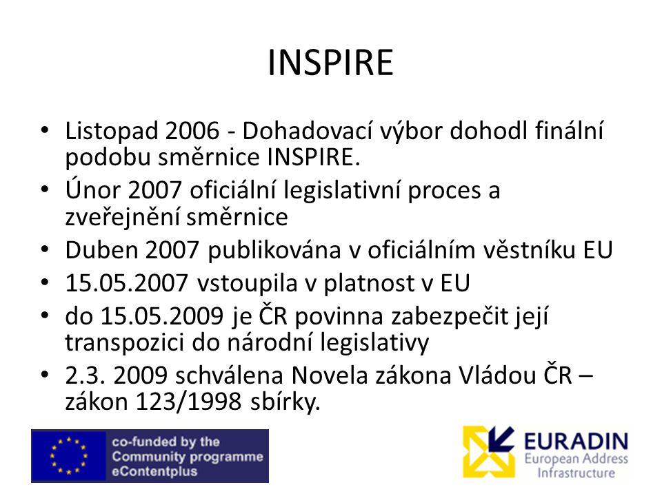 INSPIRE Listopad 2006 - Dohadovací výbor dohodl finální podobu směrnice INSPIRE.