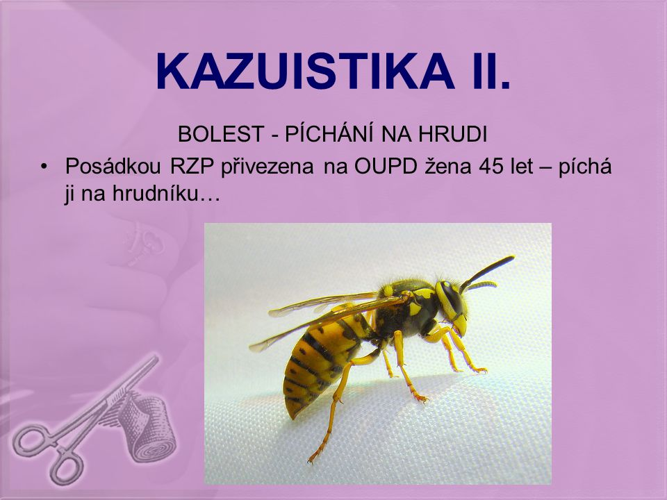 KAZUISTIKA III.BOLEST ZAD – MEZI LOPATKAMI I.
