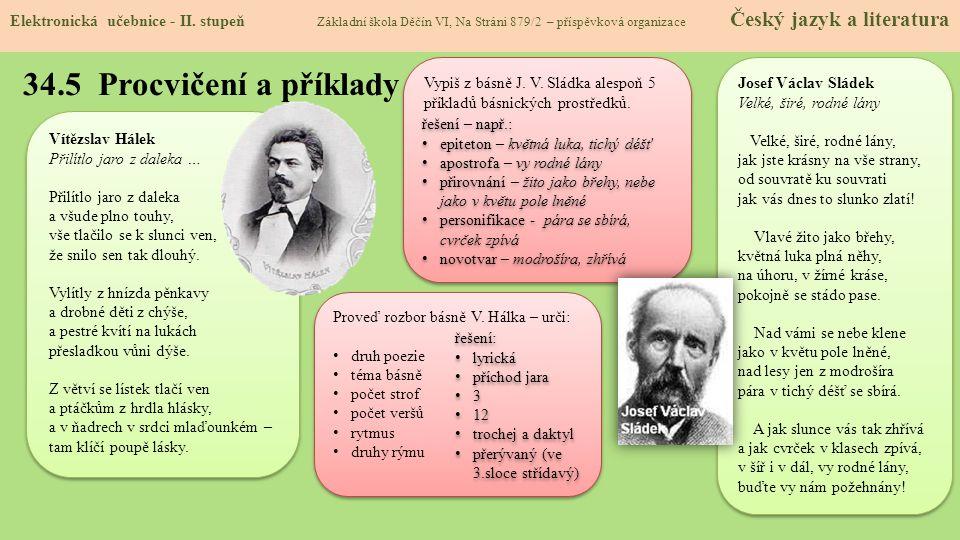 34.5 Procvičení a příklady Elektronická učebnice - II.