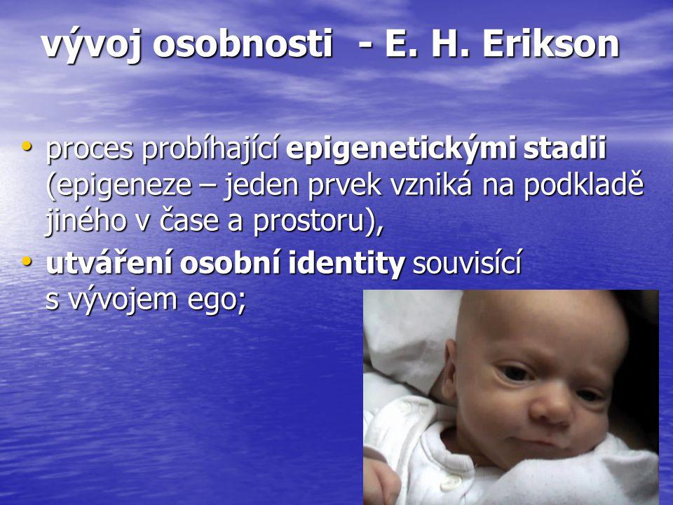 vývoj osobnosti - E. H.
