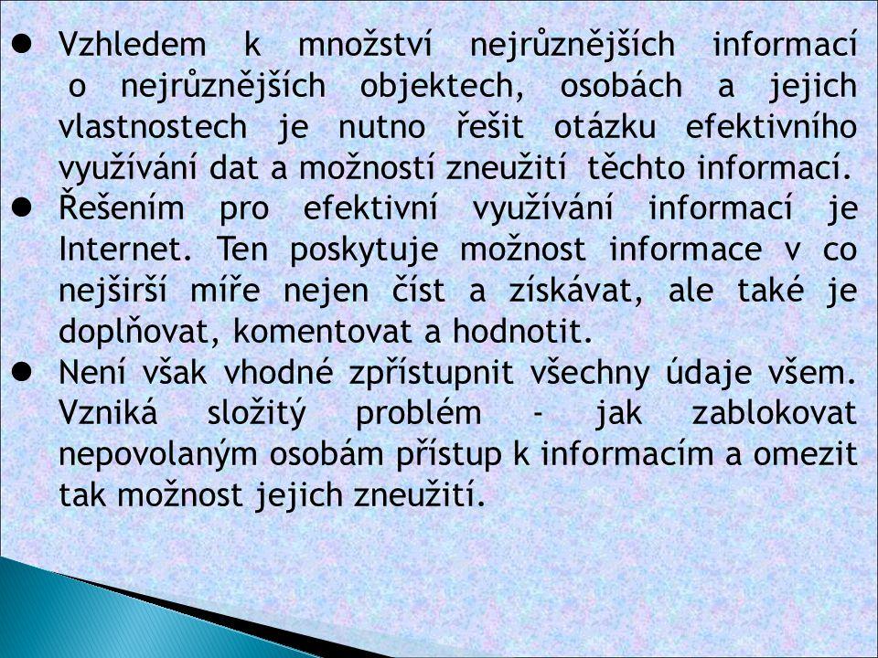 Základní požadavky na zabezpečení údajů 1.
