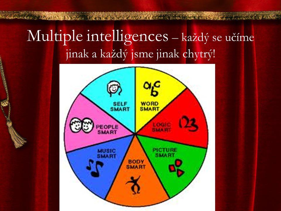 Multiple intelligences – každý se učíme jinak a každý jsme jinak chytrý!