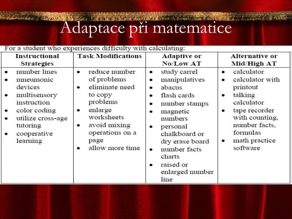 Adaptace při matematice