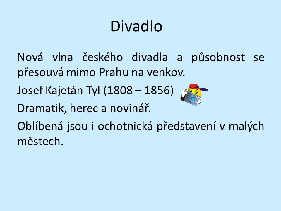 Divadlo Nová vlna českého divadla a působnost se přesouvá mimo Prahu na venkov.