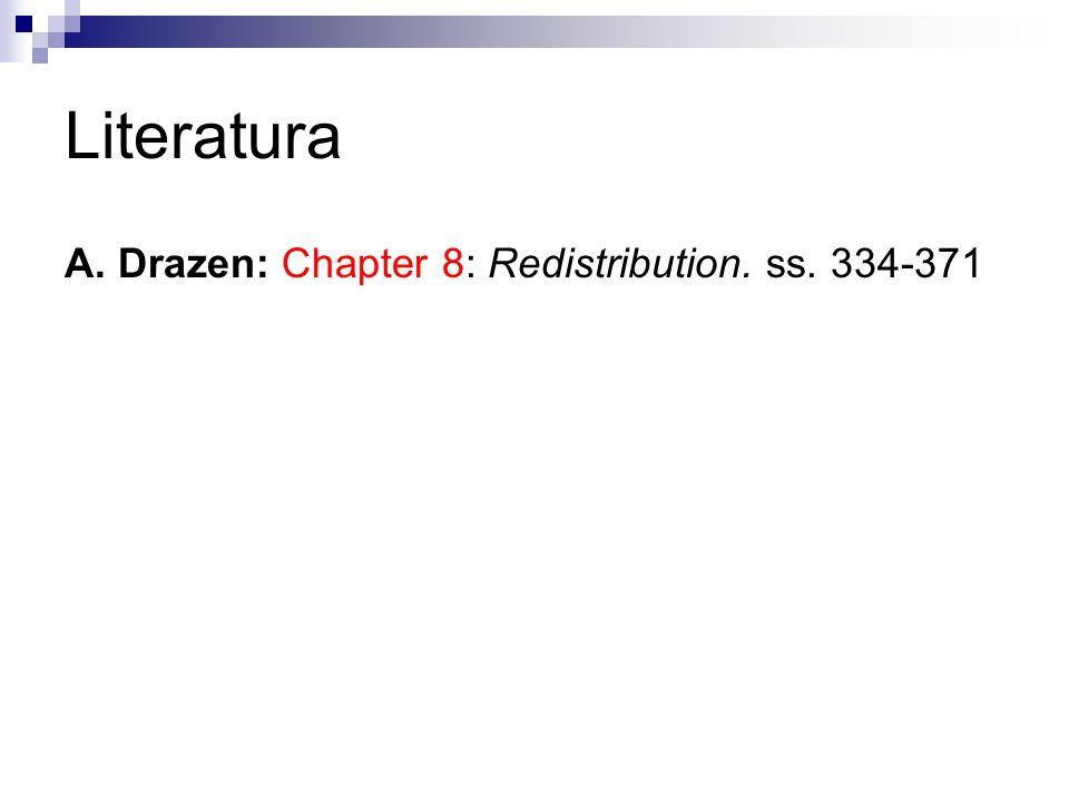 Literatura A. Drazen: Chapter 8: Redistribution. ss. 334-371