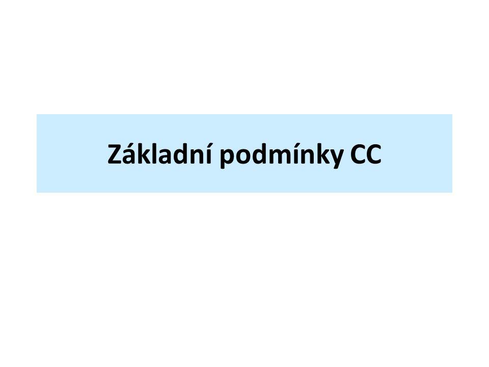 Základní podmínky CC