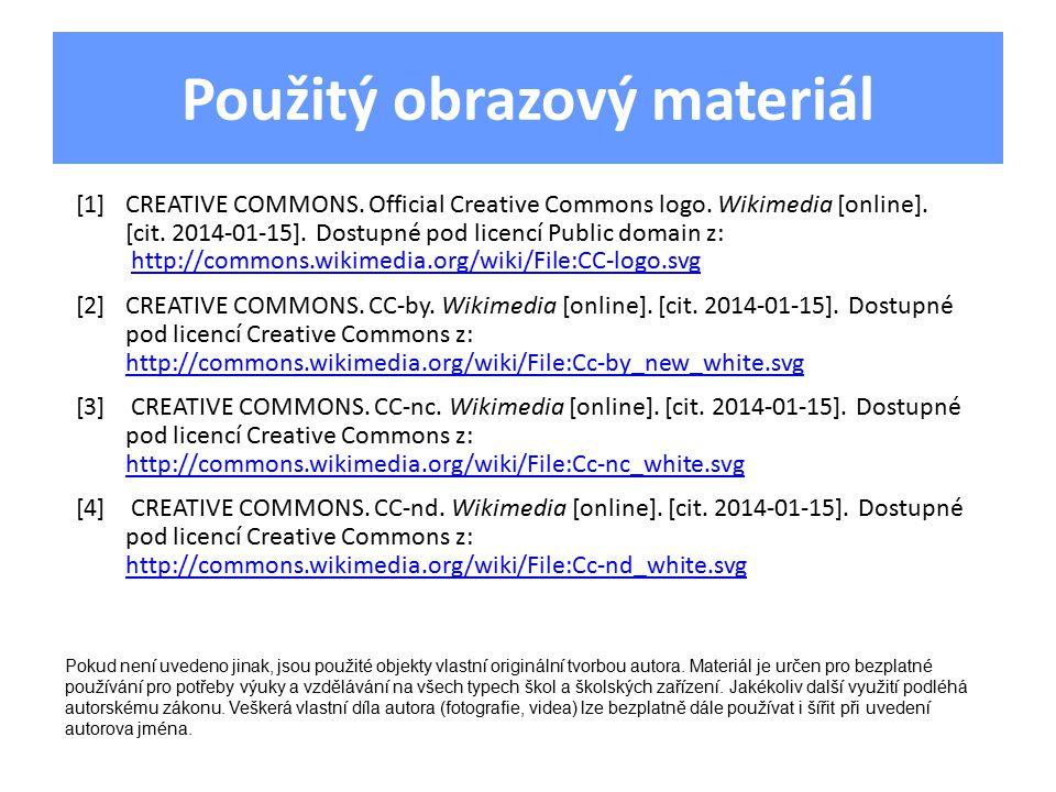 Použitý obrazový materiál [1]CREATIVE COMMONS. Official Creative Commons logo.