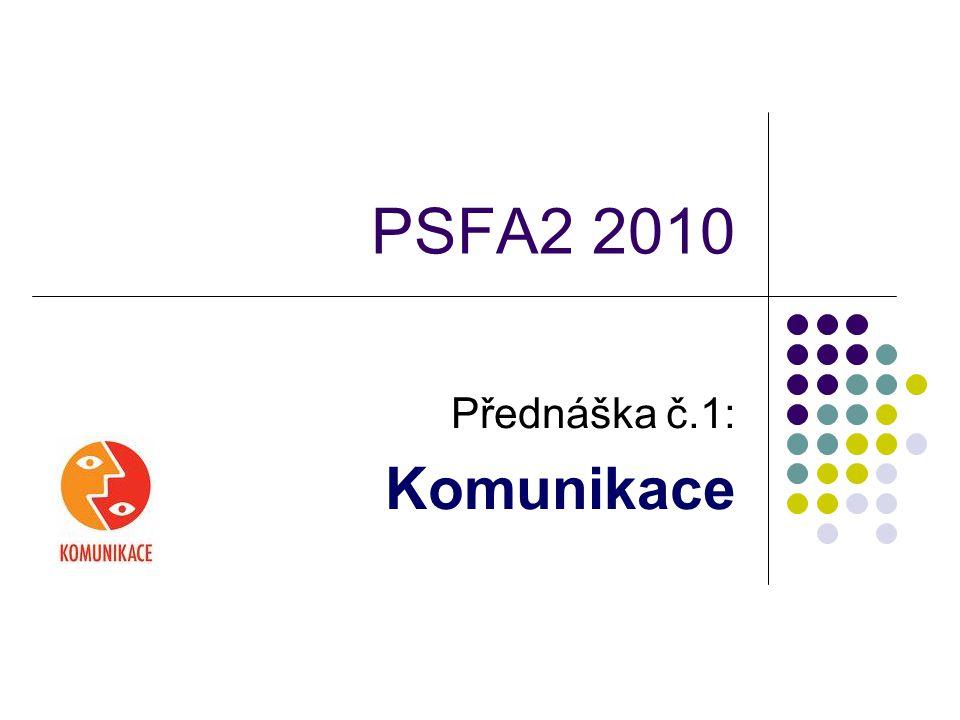 PSFA2 2010 Přednáška č.1: Komunikace
