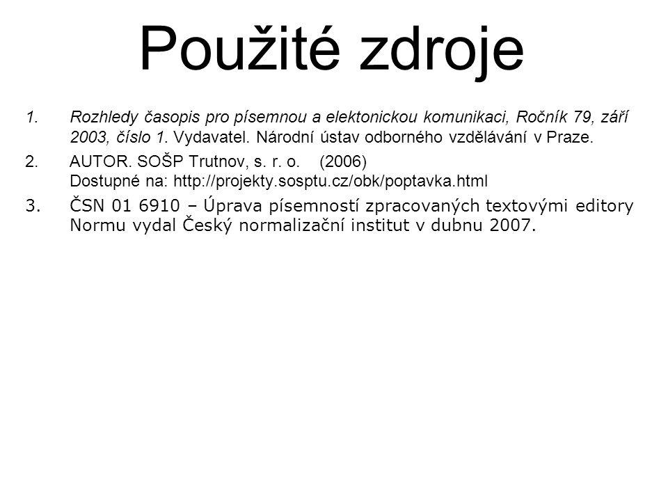 1.Rozhledy časopis pro písemnou a elektonickou komunikaci, Ročník 79, září 2003, číslo 1.