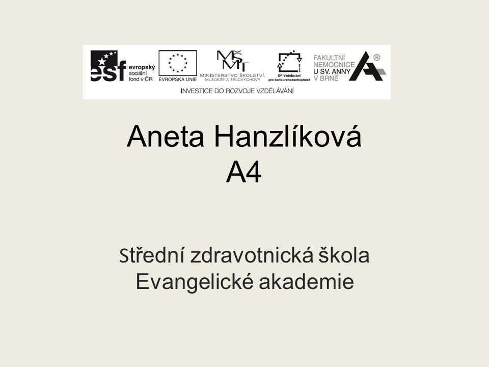 Aneta Hanzlíková A4 S třední zdravotnická škola Evangelické akademie
