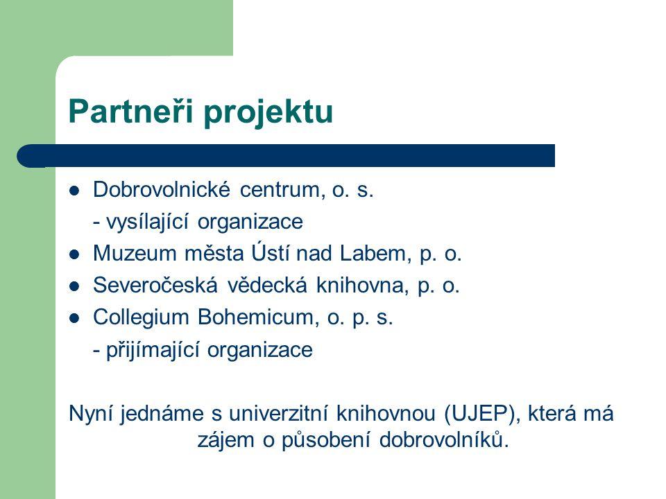 Partneři projektu Dobrovolnické centrum, o. s.