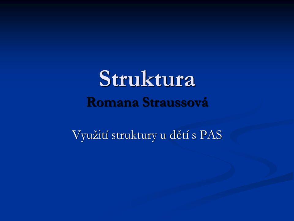 Struktura Romana Straussová Využití struktury u dětí s PAS