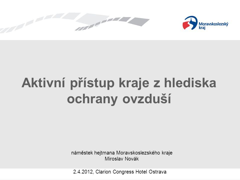 Horizontální opatření Regionální monitoring kvality ovzduší –podpora regionálního monitoringu kvality ovzduší i v odlehlých místech kraje, kde se běžně monitoring kvality ovzduší neprovádí Aktualizace webových stránek odboru ŽPZ –lepší přehlednost a informovanost pro občany Polské zdroje –cílem je nastavit stejně přísné pravidla pro průmysl jako v Moravskoslezském kraji a společně hledat řešení na snížení emisí z lokálního vytápění a dopravy