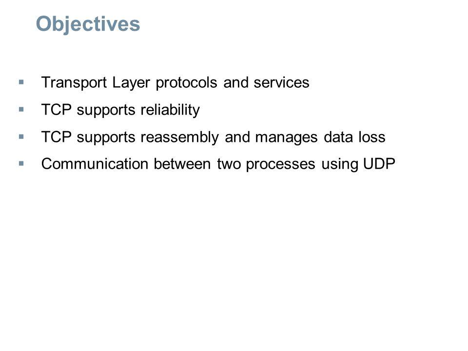UDP Protocol  Port numbers identify a process, service, or application Server odpovídá na ty porty, které klienti uvedli jako zdrojové.