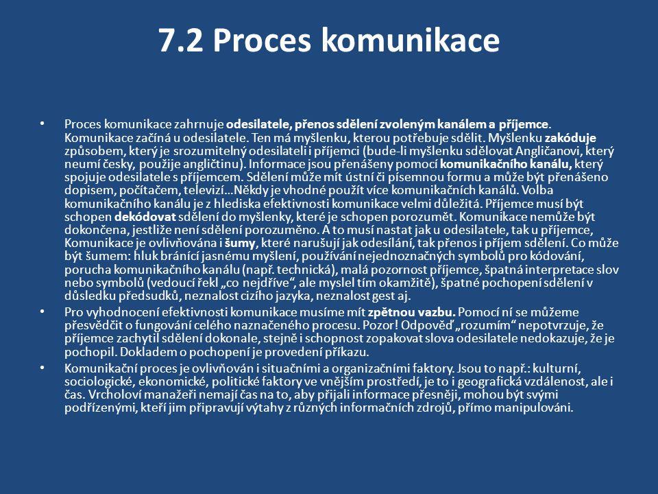7.3 Komunikace v organizacích, výběr média přenosu a komunikačních kanálů Žijeme v dobře informační exploze.