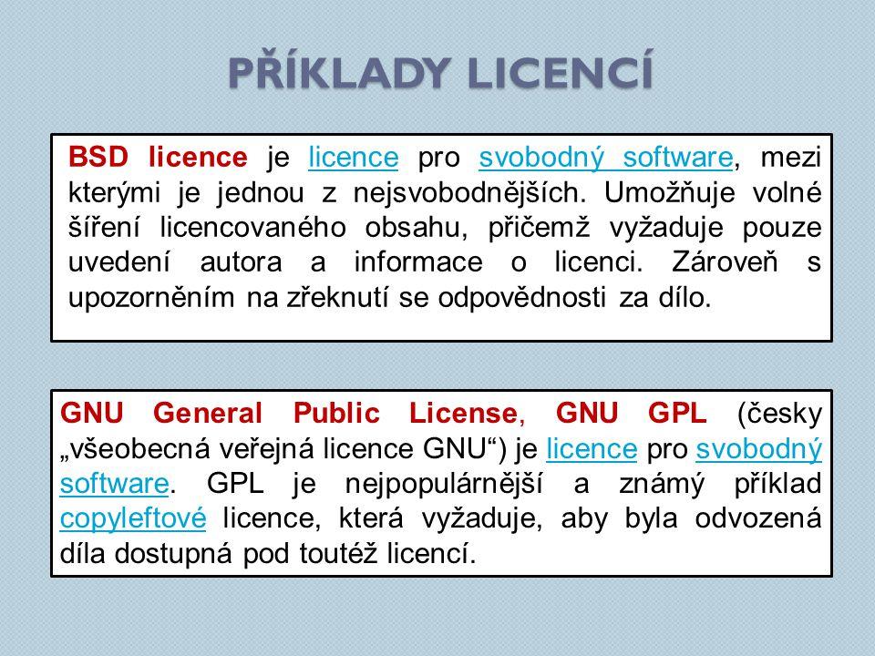 BSD licence je licence pro svobodný software, mezi kterými je jednou z nejsvobodnějších.